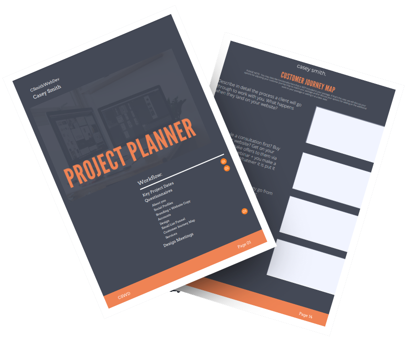 Website project planner template