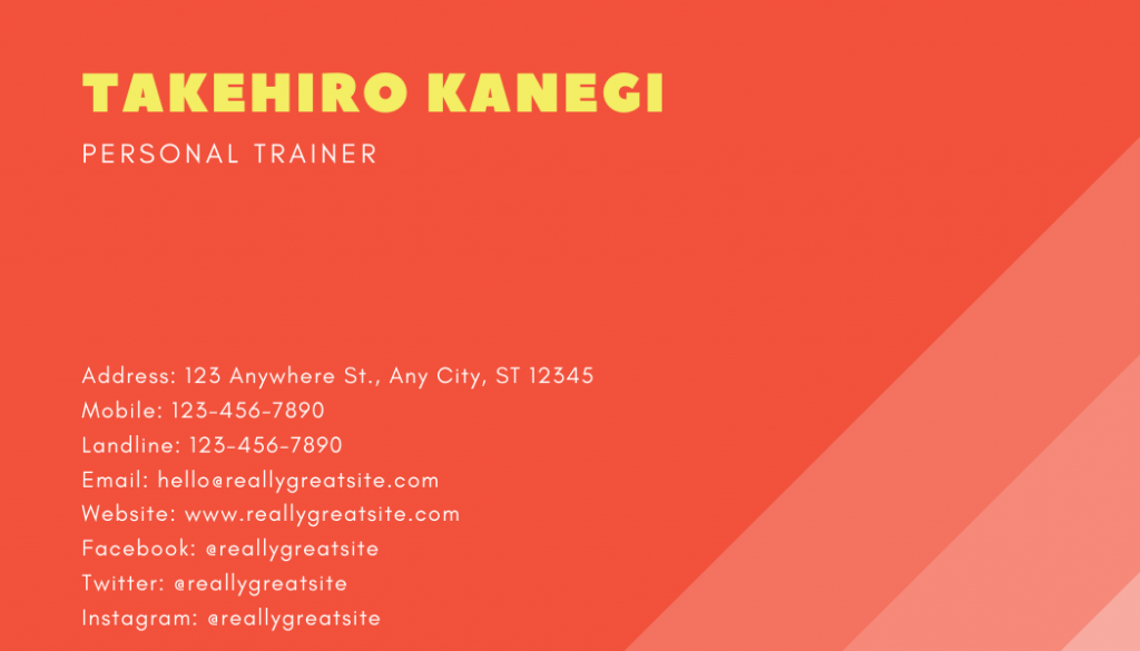 Gradient style personal trainer business card
