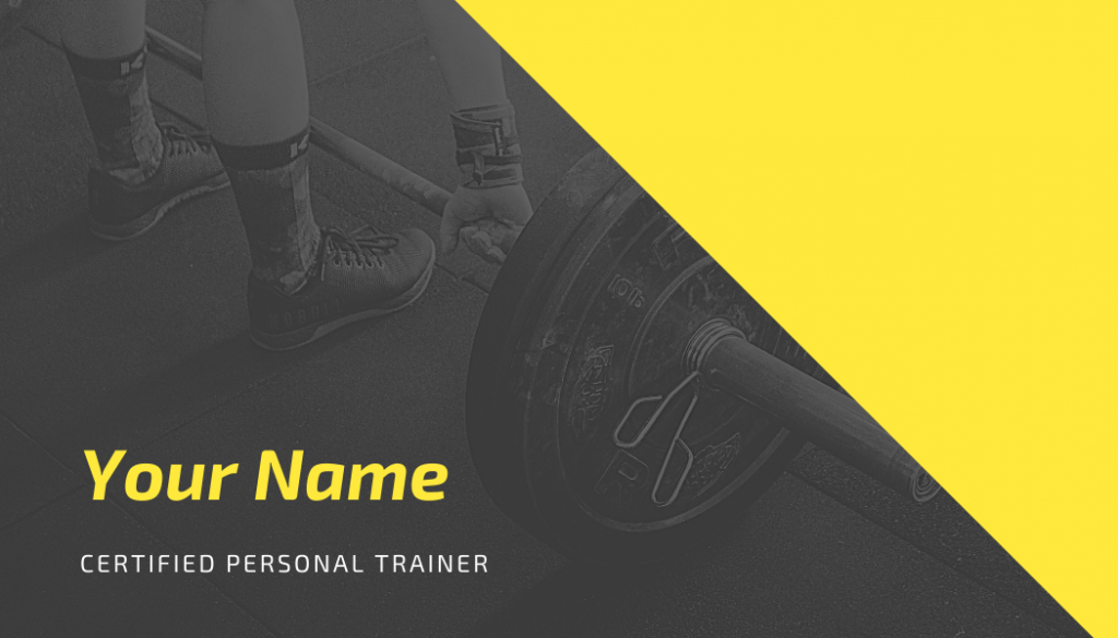 Personal trainer neon card front