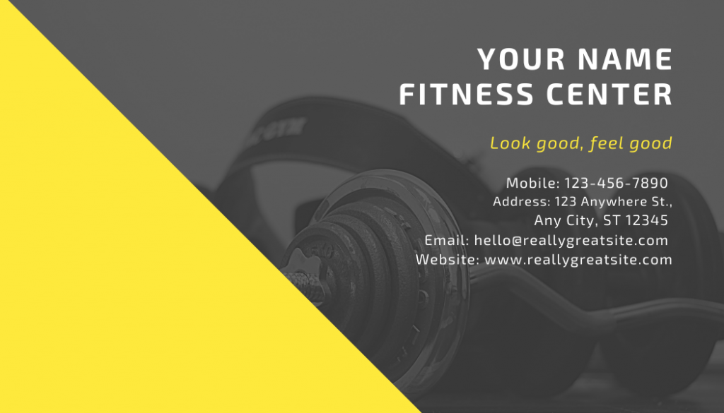 Personal trainer neon card back